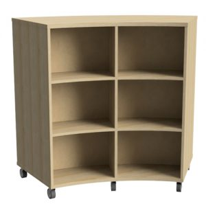 FLEXIBLE CURVED BOOKCASE